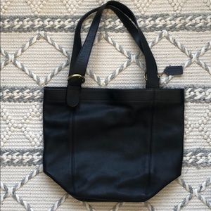 VTG Leather Coach Bucket Tote Bag
